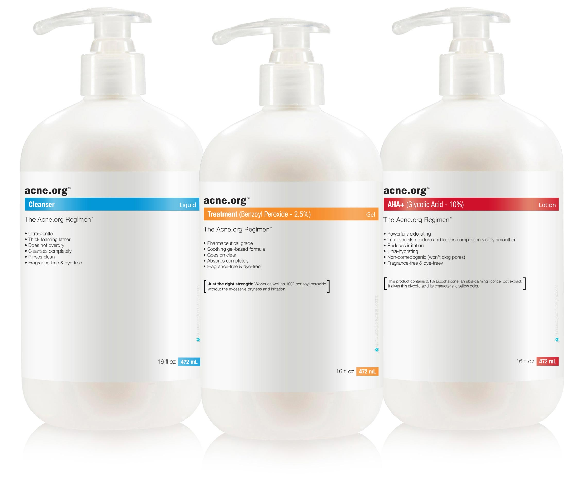 Acne.org body regimen products