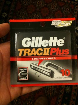 Trac II Plus razor cartridges