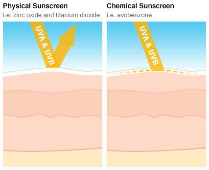 Physical vs. Chemical Sunscreen (SPF)